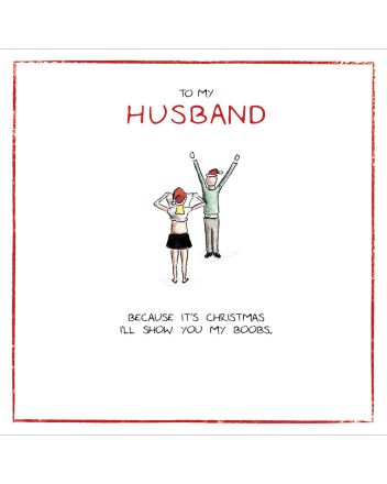 Woodmansterne Husband Boobs For Christmas Card