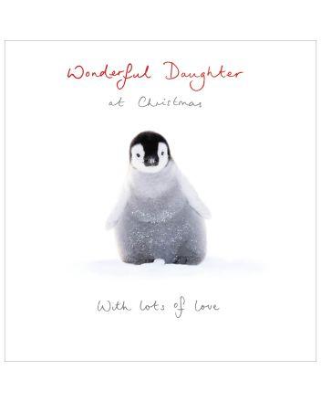 Woodmansterne Wonderful Daughter Penguin Christmas Card
