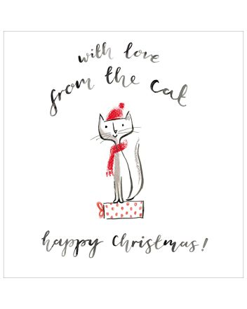 Woodmansterne From The Cat Happy Christmas Card