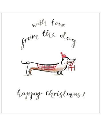 Woodmansterne From The Dog Happy Christmas Card