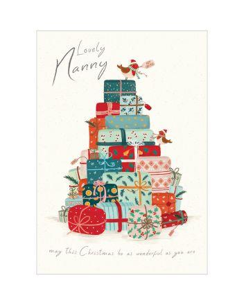 Woodmansterne Lovely Nanny Gift Mountain Christmas Card
