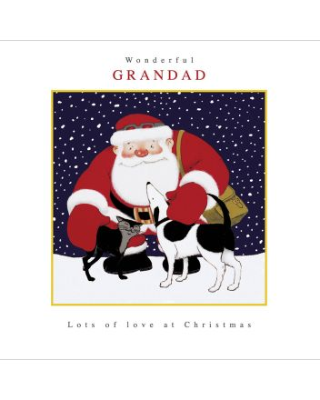 Woodmansterne Grandad Raymond Briggs Father Christmas Card