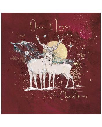 Woodmansterne One I Love Deer Christmas Card