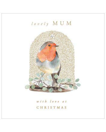 Woodmansterne Lovely Mum Robin Christmas Card
