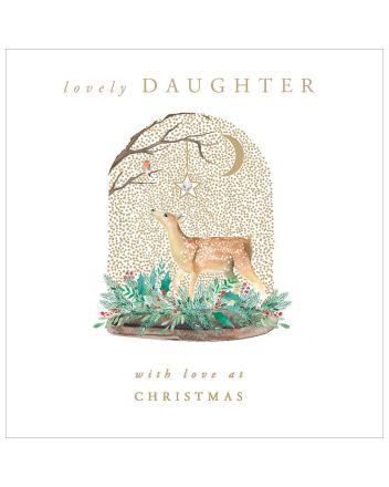 Woodmansterne Lovely Daughter Deer Christmas Card