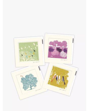 Woodmansterne Pack of 4 Mocchi Mocchi Greetings Cards