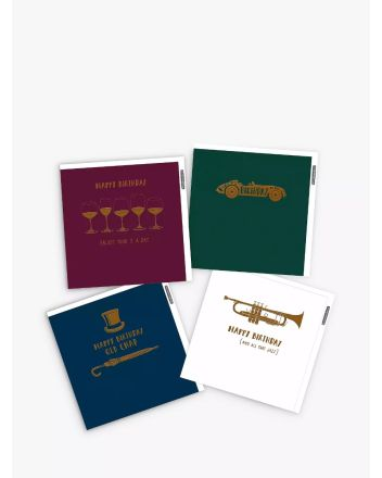 Woodmansterne Pack of 4 Sophisticated Birthday Cards