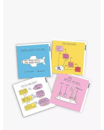 Woodmansterne Pack of 4 Mindfulmess Birthday Cards