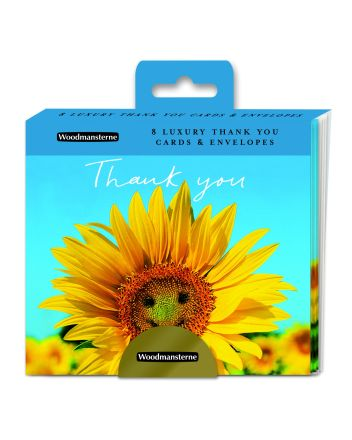 Woodmansterne Smiling Sunflower Thank You Cards