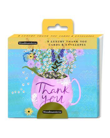 Woodmansterne Mug of Flowers Thank You Cards