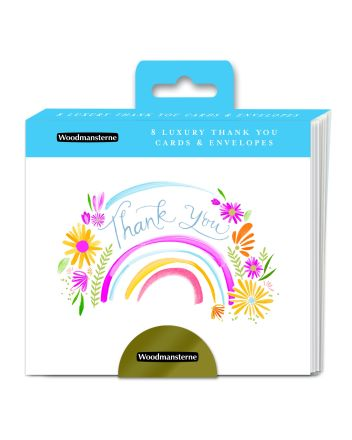 Woodmansterne Floral Rainbow Thank You Cards