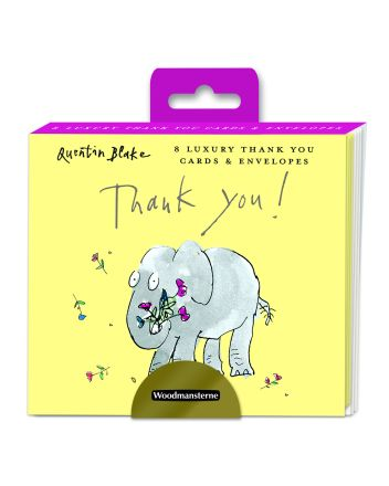 Woodmansterne Quentin Blake Elephant Thank You Cards