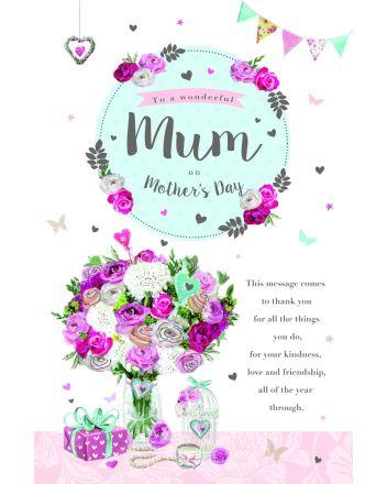 ICG Wonderful Mum on Mothers Day Card