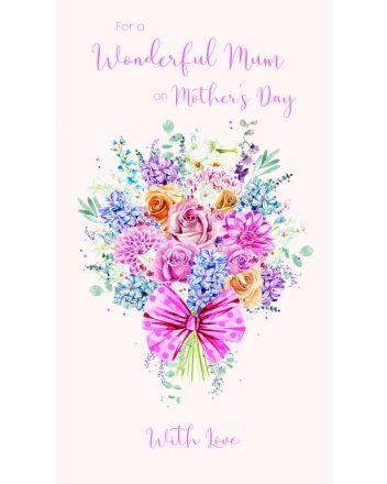 ICG Flower Bouquet Wonderful Mum on Mothers Day Card
