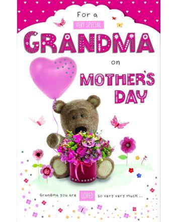 ICG Barley Bear Grandma on Mothers Day Card