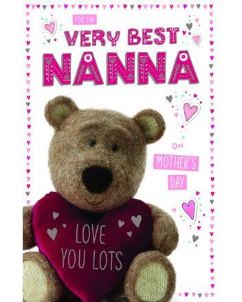 ICG Barley Bear Nanna on Mothers Day Card
