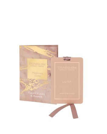 Stoneglow Ylang and Amber Perfume Card
