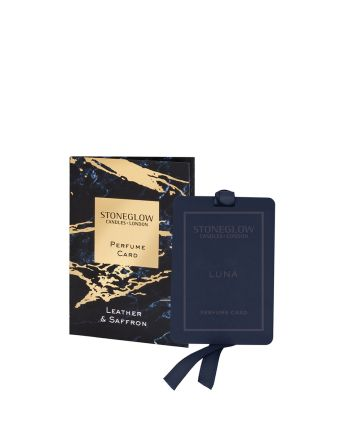 Stoneglow Leather and Saffron Perfume Card