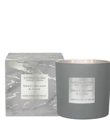 Stoneglow 3-wick Balsam and Cade Candle