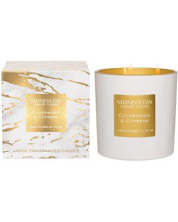 Stoneglow 3-wick Cedarwood and Cypress Candle