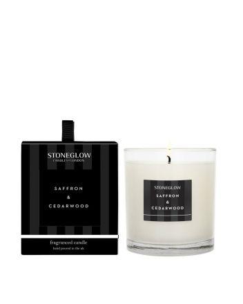 Stoneglow Tumbler Saffron and Cedarwood Candle