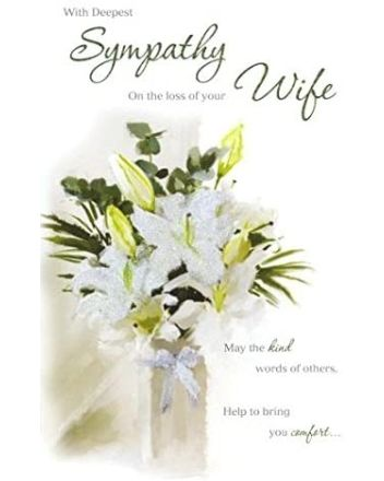 ICG White Lillies Loss of Wife Sympathy Card
