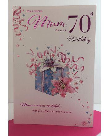 ICG Flowers Mum 70th Birthday Card