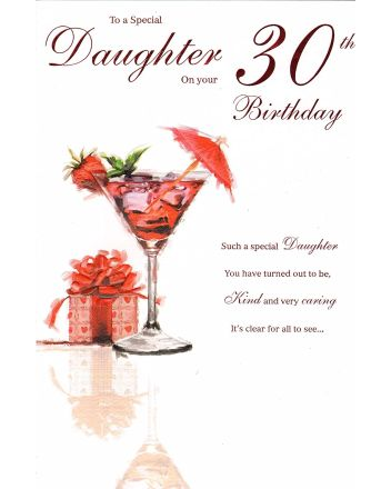 ICG Cocktails Daughter 30th Birthday Card