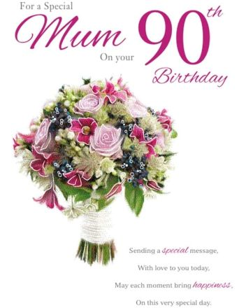 ICG Flowers Mum 90th Birthday Card