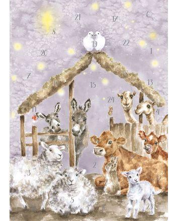 Wrendale Away in a Manger Advent Calendar