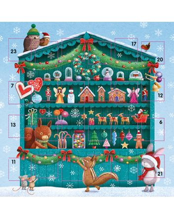 Ling Christmas Market Advent Calendar Card