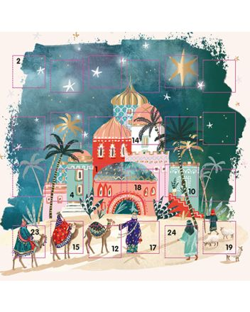 Ling Bethlehem Advent Calendar Card