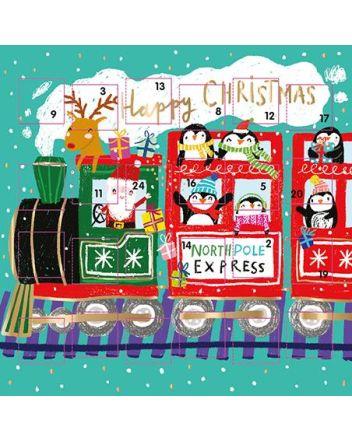 Ling North Pole Express Advent Calendar Card