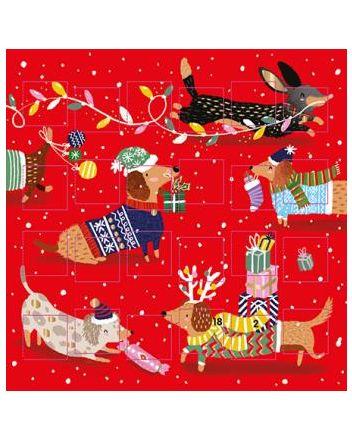 Ling Christmas Dogs Advent Calendar Card