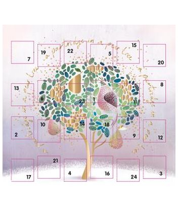 Ling Christmas Partridge in a Pear Tree Advent Calendar Card