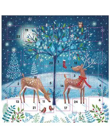 Ling Magical Christmas Tree Advent Calendar Card