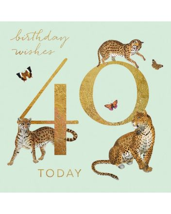 Museums and Galleries Leopards 40th Birthday Card