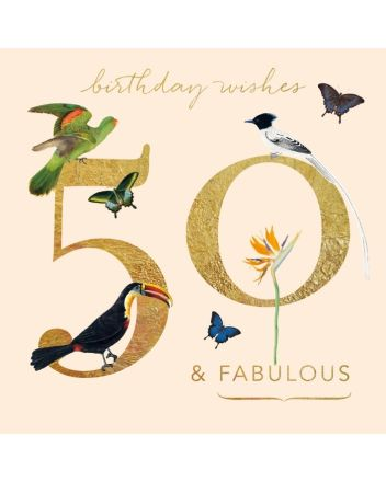 Museums and Galleries Birds of Paradise 50th Birthday Card