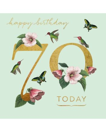 Museums and Galleries Hummingbird 70th Birthday Card