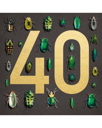 Museums and Galleries Beetles 40th Birthday Card