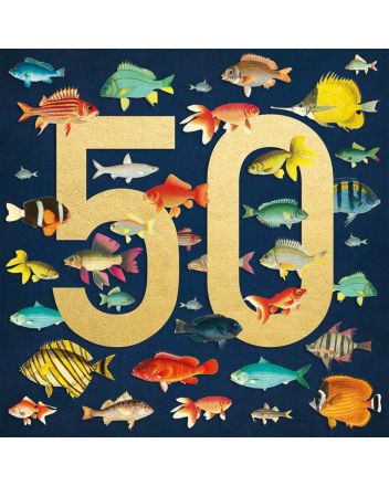 Museums and Galleries Fish 50th Birthday Card