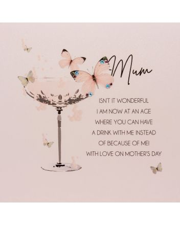 Five Dollar Shake Butterflies Have A Drink Mothers Day Card