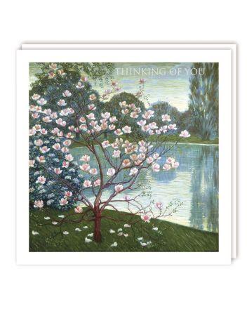 Tracks Magnolia Tree Thinking of You Card