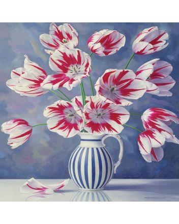 Tracks Triumph Tulips Greetings Card