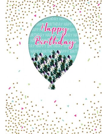 Second Nature Autograph Balloon Birthday Card