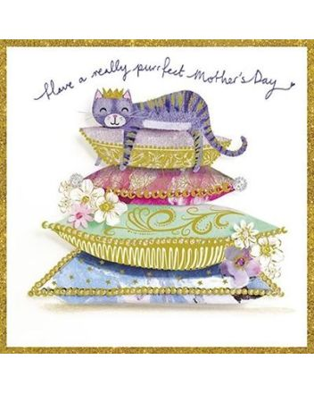 Paper Rose Purrfect Mothers Day Card