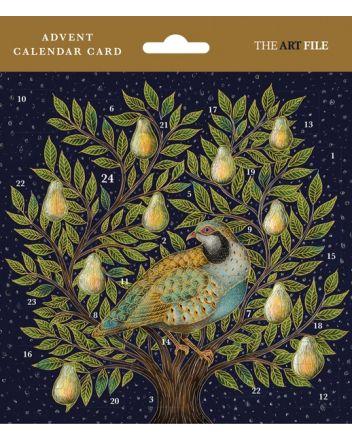 Art File Partridge in a Pear Tree Advent Calendar