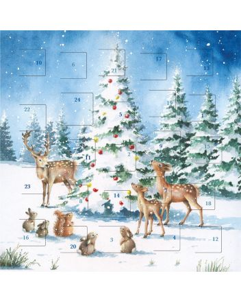 Art File Animals Around the Tree Advent Calendar
