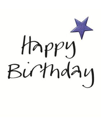 Lucilla Lavender Star Happy Birthday Card