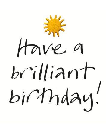 Lucilla Lavender Have A Brilliant Birthday Card